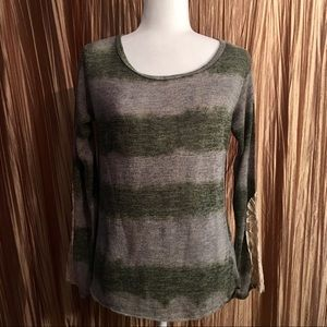 Vintage Havana Unique Gray Sweater Size M